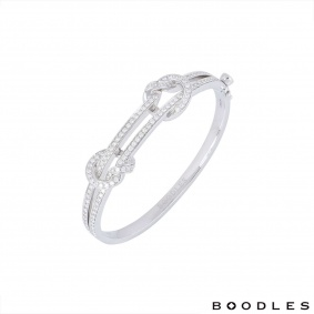 Boodles White Gold The Knot Diamond Bangle